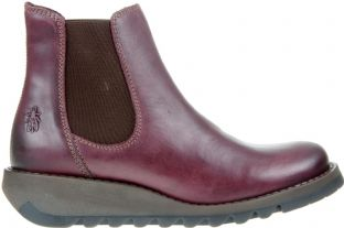 FLY London Salv Womens Purple Leather Boots